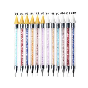 Double-Ended-Nagel-Point Drill Pen Diamant Penholde Strass Picker Wachs Punktierung Bleistift DIY Maniküre-Nagel-Kunst-Werkzeug punktiert OOA8118