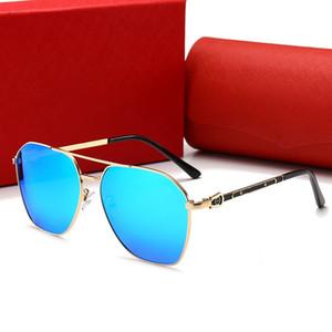 CARTIER 0129 nova medusa óculos de sol sem aro piloto óculos de sol dos homens marca designer revestimento mirrorr lente estilo steampunk estilo verão