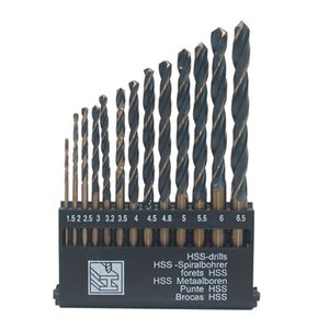 Hss 6542 Black Trough Straight Shank Twist Drill Set Drill Bit Stainless Steel Mold Steel Copper Aluminum