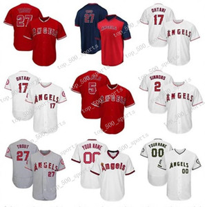 Maillots de baseball personnalisés Los Angeles Hommes de haute qualité en tricot Jersey 5 Albert Pujols 27 Mike Trout 17 Shohei Ohtani Matt Harvey