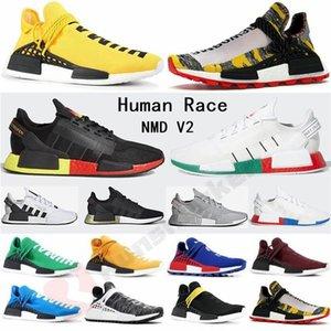 2020 Race Pharrell Williams NMD R1 V2 Formadores humana zapatillas de correr Igualdad BBC Negro Nobel Triplicador conocimientos alma para mujer para hombre de las zapatillas de deporte Deportes
