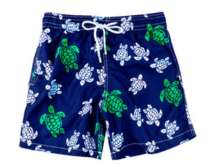 Bandeira Impresso Swim Trunks Quick Dry fato de banho dos homens de verão azul marinho Praia shorts soltos Moda