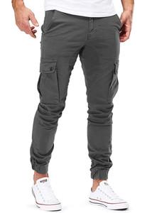 Конструктор Мужчины повседневные брюки Лоскутная Sweatpants Мужской штанах Multi-карман Sportwear Hip Hop Мужские Joggers 4XL