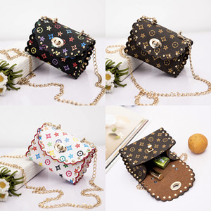 Nuevos niños bolsos de hombro Bolsa de moda imprimir bebé Mini monedero de encaje lindo bolsas de viaje de chicas mensajero ocasional monedero para niñas regalos M1092