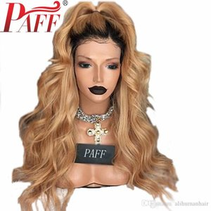 Ombre Human Hair 360 Lace Frontal Wig Pre Plucked 1B27 Honey Blonde Wavy Remy Hair Wig Brazilian With Baby Hair Free Part