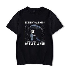 John Wick Be Kind To Animal Funny T shirt Or I'll Kill You letter Men Black T-Shirt Size XS-3XL Cartoon t shirt men Unisex Fashion tshirt