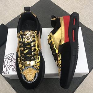 Versace Lusso moda Scarpe da uomo traspirante superiore Sport Scarpe Casual Scarpe Scarpe de hombre cuoio delle scarpe da tennis degli uomini di tennis di consegna veloce 29