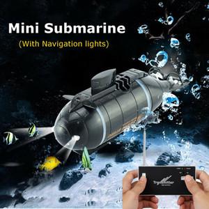 Elektrikli Mini Radyo RC Denizaltı Plastik Tekne Torpido Meclisi ile LED Işık 5 Renk Su geçirmez Oyuncak Çocuk Hediyeleri Denizi keşfedin