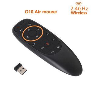 G10 에어 원격 마우스 피델리티 음성 입력 6 Gxis 자이로 스코프 2.4G 무선으로 음성 원격 제어 IR 학습