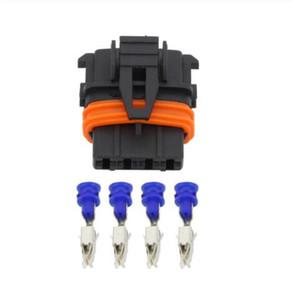 Frete grátis 50set 4 Pin conector de carro Conector Bosch ECU com o terminal 368162-1, DJ7046B-3,5-21