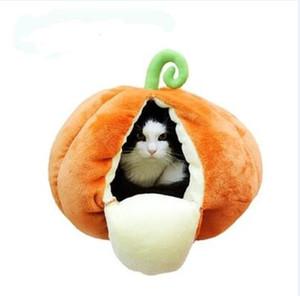NewPet Fruit mignon Nest citrouille Nest Chat Chenil Kennel chaud à Cat semi-fermée d'hiver Maison Yourte Cat Den