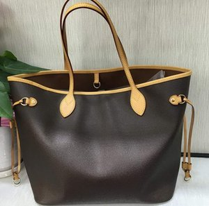 Mode Frauen Taschen Brown Flower Never Brand Designer-Lederhandtaschen für Damen FULL Totes Umhängetasche Online-Shopping