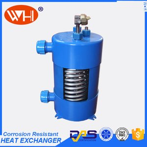 OEM-design 1P PURE Titanium Heat exchanger in pvc,small tube heat exchanger,shell tube oil cooler