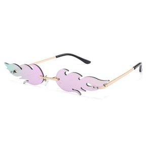 Art und Weise Frauen Flamme Form Sonnenbrille Cat Eye Shades Brand Design Weibliche Sonnenbrillen Brillen UV400 Gafas De Sol