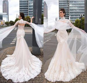 Milla Nova 2019 Mermaid Abiti da sposa Sweetheart pizzo con impacchi Beach Boho Abiti da sposa Plus Size robe de mariée