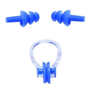 Pool 1 Satz wasserdicht weiches Silikon Schwimmt Set Soft-Nasen-Klipp-Nasen-Klipp-Ohr-Stecker-Ohrstöpsel-Werkzeug