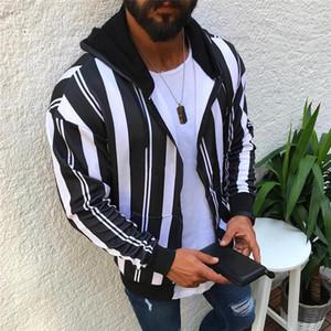 Sleeve Hoodys 19AW Herren Jacken beiläufige Mens Designer Hoodies Art und Weise Striped Dicker Fleece Lange