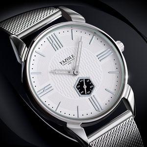 YAZOLE Nuevo Patrón de Calor Vender Hombre Reloj de Pulsera Moda Tiempo Libre Acero Traer Reloj de Pulsera Reloj de Cuarzo Pulsera Superficie