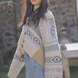 V-Neck Sweater Women Long Sleeve Korean Style Open Stitch Knitted Sweater Cardigans Casual Lady Cardigan Outwear