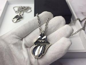 Moda marka zincirleri bayan Tasarım mans ve Kadın Partisi Düğün Aşıklar hediye Lüks Hip hop Takı için Kafatası Dudaklar tasarımcı kolye çapraz