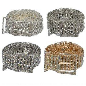 oito linhas de cinto cadeia de cintura full Rhinestone Diamante Diamante de perfuração de água embutidos ornamentos cintura senhoras da forma