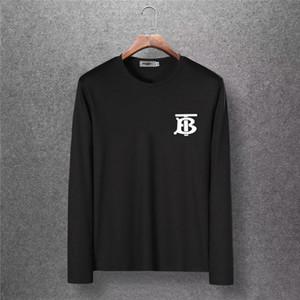 2019 yeni erkek pamuklu yuvarlak yakalı T-shirt, üst düzey lüks kumaştan yapılmış, ünlü bir tasarımcı tarafından tasarlandı.