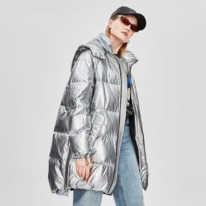 Jiazehua Jazzevar Vestes d'hiver vers le bas femme Fonds long Même Hat Fonds YA8001 Ins Épaississement