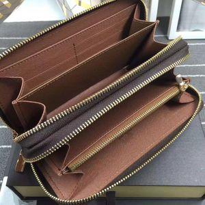 Designer- classici standard, raccoglitore di affari uomini donne borsa lunga buona borsa di denaro qualità doppio sacchetto della chiusura lampo compartimenti note taschino