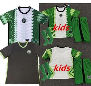 20 21 NigeriaSoccer jersey 2020 2021 Home maillot de foot Nigeria #10 OKOCHA Soccer Shirt Away AHMED MUSA MIKEL IHEANACHO football Uniform