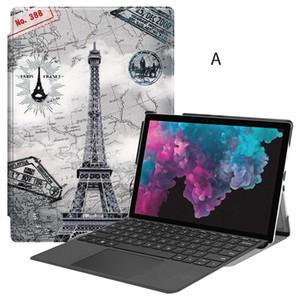 Magnetische Ledertasche mit Stift für Microsoft Surface Pro 4 Pro 5 Pro 6 12.3 Tablet + Stift