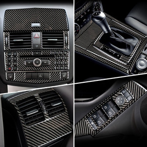 Углеродное волокно для Mercedes Benz C Class W204 автомобиль Внутренней Gearshift Кондиционер панель CD Reading Light Cover Обрезка автомобили Наклейка Аксессуары