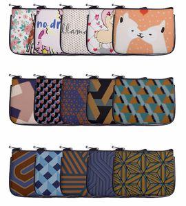 Zohra New Style Europe And America PU Purse Digital Printing Leather Small Makeup Customizable Stripes Alpaca Four-piece Set
