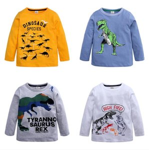 Autumn Boys Cartoon Dinosaur T Shirts Children Long Sleeve Cotton T Shirts Boys Clothes Children Printed Tees Baby Boy Tops