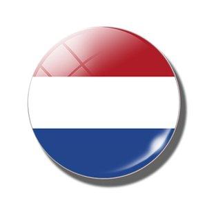 Holland Flag 30 MM Fridge Magnet Netherlands Flag Nederland Amsterdam Note Holder Glass Magnetic Refrigerator Sticker Home Decor