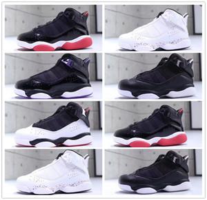 2019 Jumpman VI 6 Yüzükler Çocuk basketbol ayakkabıları spor ayakkabı Çocuk sneakers Gym Kırmızı Mor Erkek Kız 6 s Atletik tasarımcı Basketbol ayakkabı