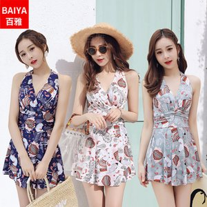 2020 Summer New Fresh Girl Student One-Piece Skirt Hot Spring Swimming Suit Factory Direct 668065