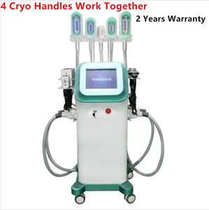 360 Surround Cooling Cryotherapy Fat Freeze Slimming Machine Vacuum Cavitation RF Liposuction Cryo Fat Freezing Machine with 5 Cryo Handles