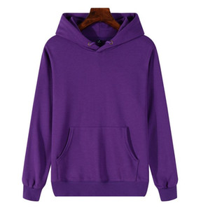 New Fashion Hoodie Men Women Sport Sweatshirt Size S-XXL 11 Color Cotton Blend Thick Fashion Hoodies Pullover Long Sleeve Streetwear