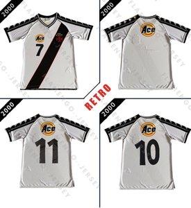 Dagama DONIZETE # 7 VASCO JOGO camisa de futebol retro GASTO 2000 classic camisa de futebol do vintage Camisa de futebol Romário casa