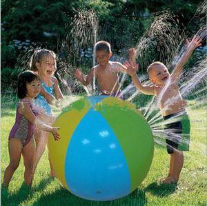 75CM نفخ شاطئ الماء الكرة في الهواء الطلق الرشاش الصيف نفخ رذاذ الماء في الهواء الطلق بالون لعب في شاطئ كرة الماء