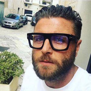 Frauen Männer Weiblich Männlich Brillen Feld quadratisches Metall Blau lichtundurchlässige Brille Flach-Glas-Rahmen-Großhandelspreis