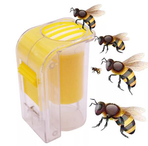 Ape Regina Marcatura Catcher plastica a una mano Bottiglia Marker Plunger peluche Apicoltore Attrezzo da giardino Apicoltore Queen Bee Catcher