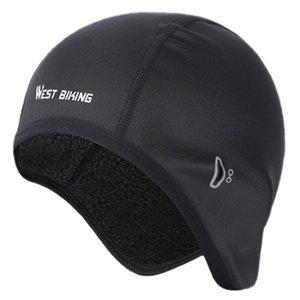 WEST BIKING Winter Cycling Caps Polar Fleece MTB Bike Balaclava Hats for Men Sports Headband Skiing Snowboard Bicycle Cap Black
