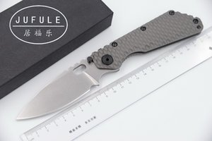 JUFULE Best SMF TC4 Titanium handle D2 blade Copper washer Folding hunting camping outdoor Tactical multi EDC Tool kitchen knife