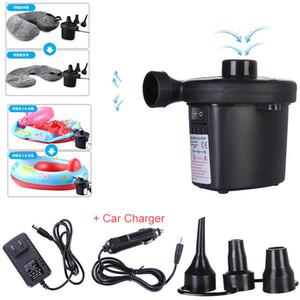 pompa ad aria elettrica portatile w / caricatore auto pompa a palloncino gonfiabile gonfiaggio per materasso in barca accessori per piscine