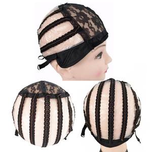 Alta Qualidade Respirável Lace Wig Caps para Peruca Fazendo Tamanho Médio Preto com Alças Ajustáveis Elastic Hair Net