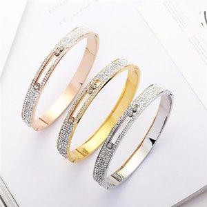2019 мода Кристалл браслет для женщин браслет из нержавеющей стали браслеты Шарм свадебный браслет партия ювелирных изделий