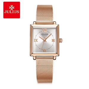 Julius New Arrival Women's Rosegold Silver Black Fashion Watch Top Quality Ladies Wrist Watch JA-1202