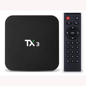 TX3 Android 9.0 TV Box Amlogic S905x3 4 جيجابايت RAM 32GB ROM 2.4G 5G WIFI BT4.0 تعيين مربع أعلى