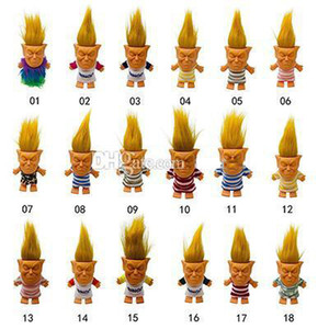 2019 new arrival hot sell troll doll funny collectible toys creative silicone action figures toys Adult decompression doll
